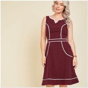 1f721e4cb1db Modcloth dress a lot to author A-Line burgundy S